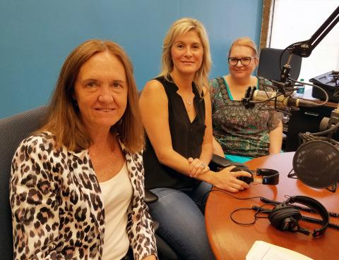 Deirdre Brennan, Heather Bentley, and Carol Morency