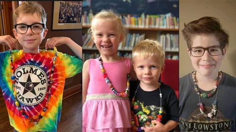 Readers win prize beads for summer reading program