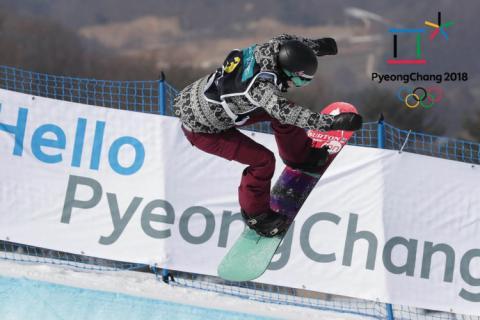 Snowboarder in Pyeongchang, South Korea