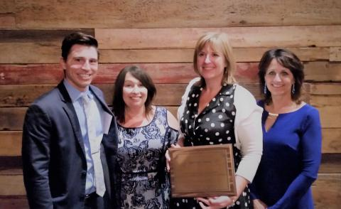 Attorney Michael Mehlick nominated Ellen Schmid, Director Halle Cox and Cynthia Lorenzo - staff of the Kane County Law Library & Self Help Legal Center for the Liberty Bell award.