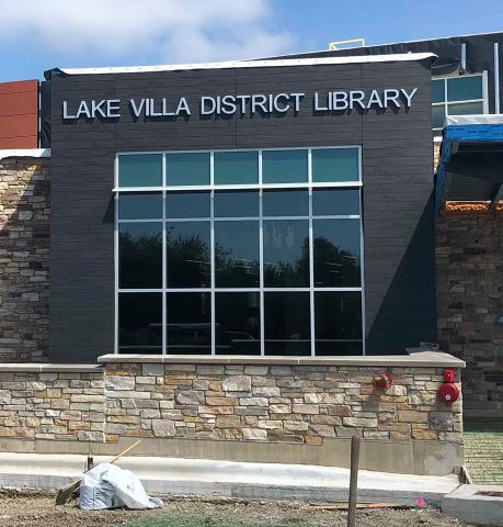 The new Lake Villa District Library is nearly complete.