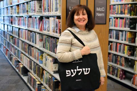 """Librarian Anne Baker Taylor trained at the Yiddish Book Center in Amherst, Massachusetts, to bring that organization's """"Coming to America"""" series to Vernon Area Public Library in Lincolnshire."""
