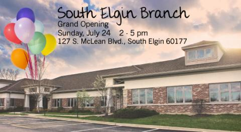 Gail Borden Public Library South Elgin Branch Opening July 24, 2 pm
