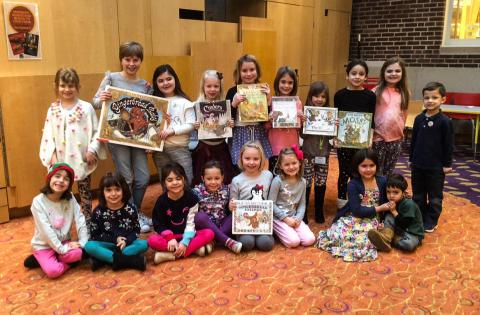 Personalized storytime attendees at Lake Forest Library