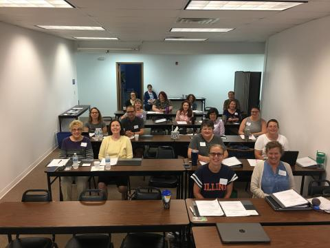 School library staff ready to learn at the RSA Back-to-School Workshop on August 8, 2018. Photo contributed by RSA.