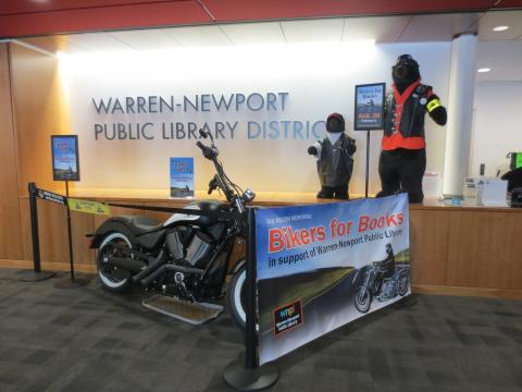The motorcycle in the lobby is getting lots of awestruck reactions!