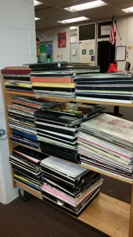 Vinyl Records Rails Reaching Across Illinois Library System