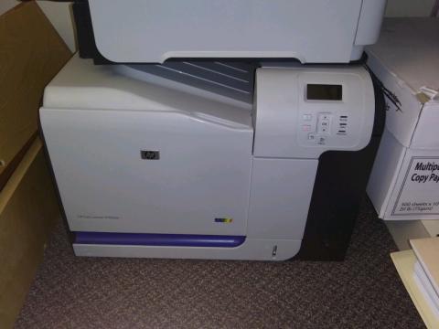 HP CP3525dn Color Laserjet Printer   RAILS: Reaching Across