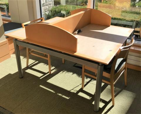 Double-sided study carrel