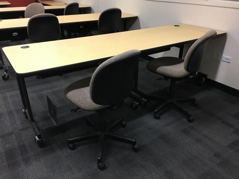 Computer Lab Tables Rails Reaching Across Illinois