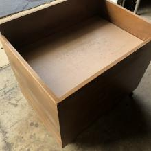 Wooden book drop bin