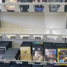 For DVD and CD Face Out Shelving