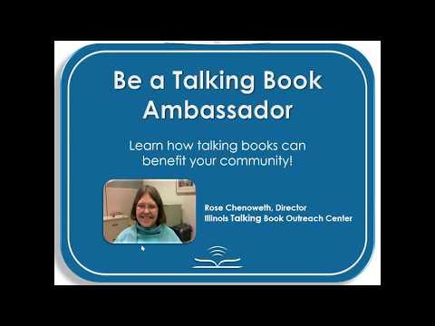 Be a Talking Book Ambassador: Learn how talking books can benefit your community