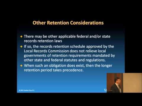 Managing Your Records Under the Illinois Local Records Act