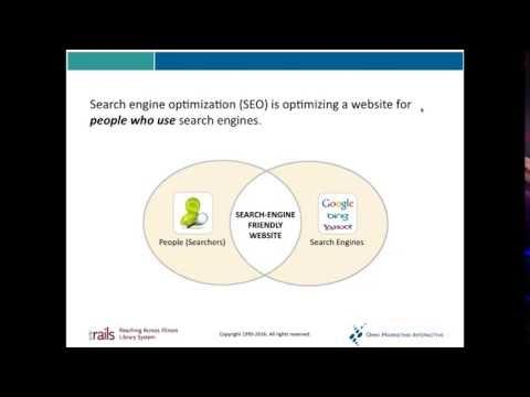 Search Engine Optimization for Libraries - Part 2: Keywords and Copywriting