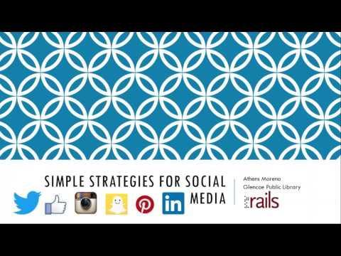 Simple Strategies for Social Media