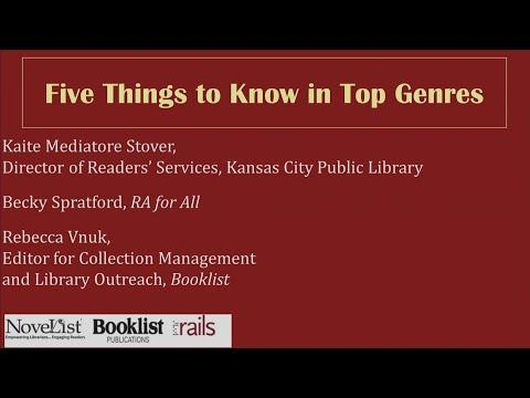 Five Things to Know in Top Genres