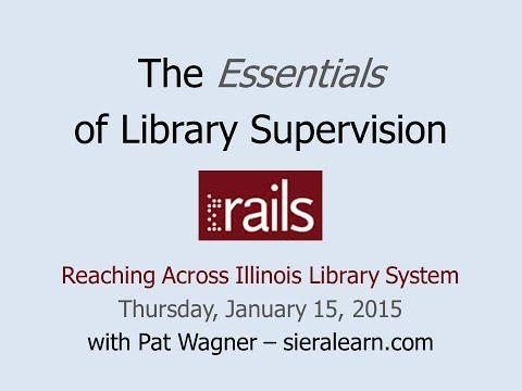 The Essentials of Library Supervision