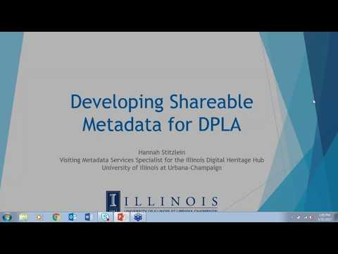 Developing Shareable Metadata for DPLA